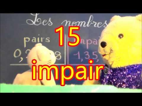 Nombre pair et impair : Le reconnaître en cp ce1 ce2 cm1 cm2