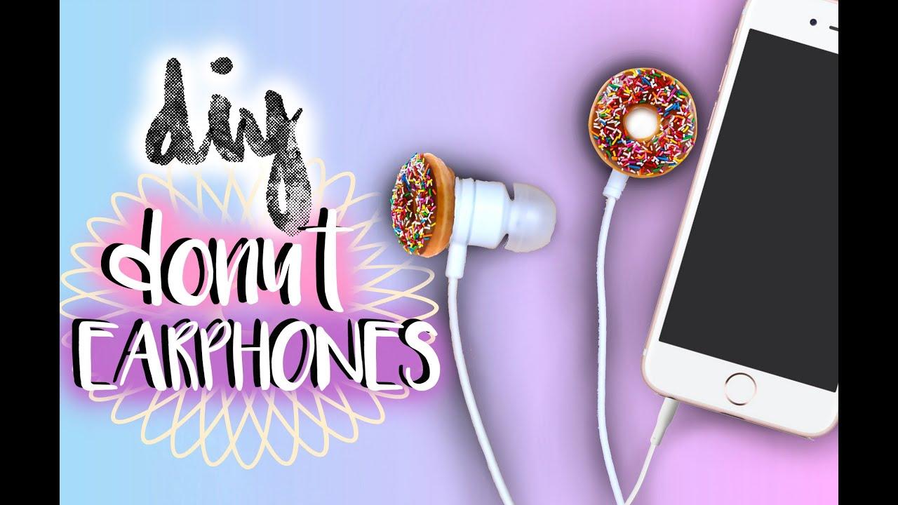 Diy Donut Earbuds Earphones Tumblr Inspired