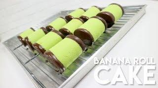 BANANA ROLL CAKE #COPYCAT ALA KARTIKA SARI DAN MAYASARI  // PANDAN ROLLCAKE WITH BANANA FILLING