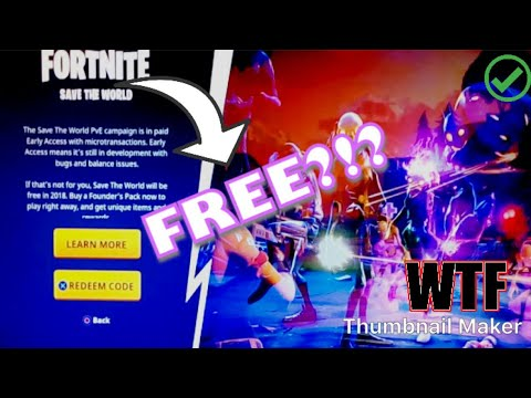 Get save the world for free glitch only for Xbox