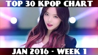 Video TOP 30 KPOP CHART - JANUARY 2016 WEEK 1 (13 NEW SONGS) download MP3, 3GP, MP4, WEBM, AVI, FLV Januari 2018