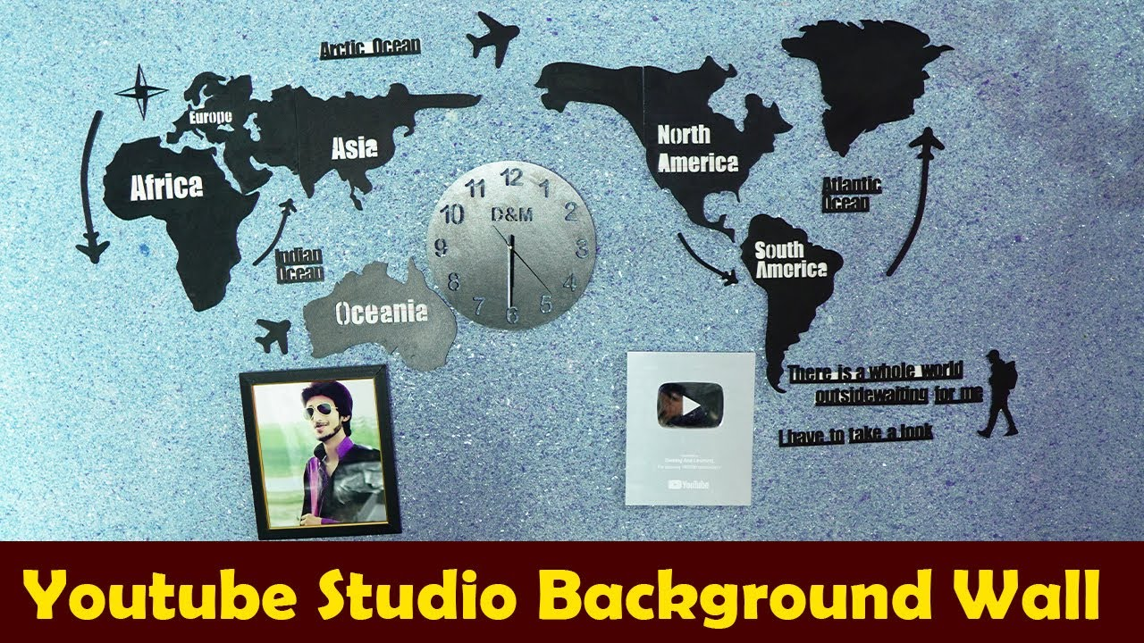 Youtube Studio Back Ground || Earning and Learning