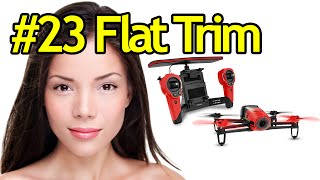 Tutorial #23 Flat Trim Parrot Bebop Drone - Quadcopter With Camera For Aerial Videos And Photos