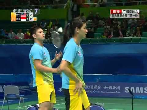 [2010 Asian Games BXD-R1] Koo Kien Keat /Woon Khe Wei vs Liliyana Natsir/Ahmad [2]