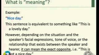 علم المعاني و البراغماتيك -1- Semantics and Pragmatics د.السيد