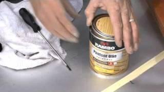 Hardhouten stoel behandelen met olie - Rambo Pantser Olie
