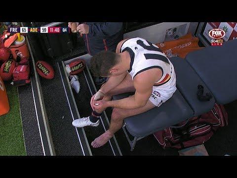 Brown injures ankle