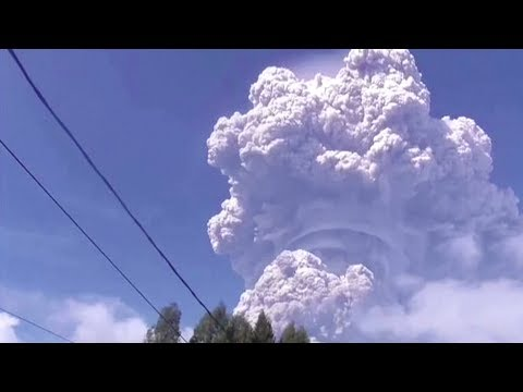 Indonesia's Sinabung volcano erupts, unleashing towering ash column
