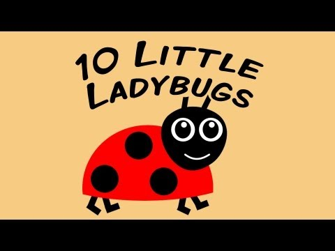 10 Little Ladybugs | counting song for children