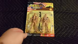 Desert Force 2 Pack Action Figure unboxing, bargain store Action figures