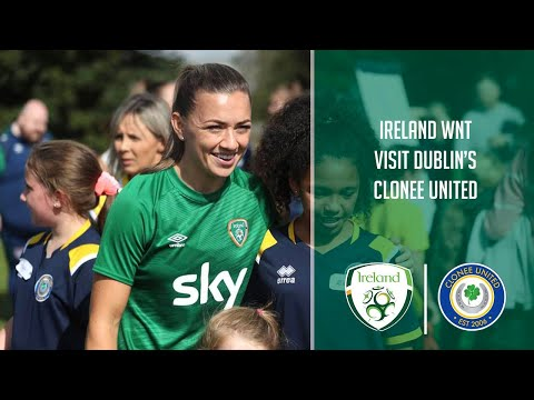 CLUB VISIT | #IRLWNT meets the girls and boys of Clonee United FC