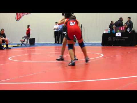 2013 Wesmen Duals: 51 kg Katlin Kucharski vs. Shukwia Tajik