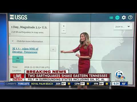 Two earthquakes shake eastern Tennessee; felt in Atlanta