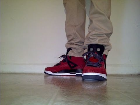"Jordan Spizike ""Gym red"" on feet - YouTube"