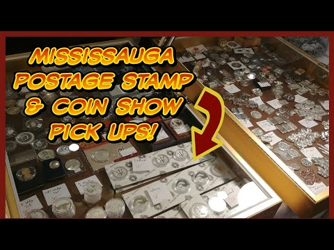A peak at the Mississauga Postage Stamp & Coin Show.  Plus my silver pick ups from the day