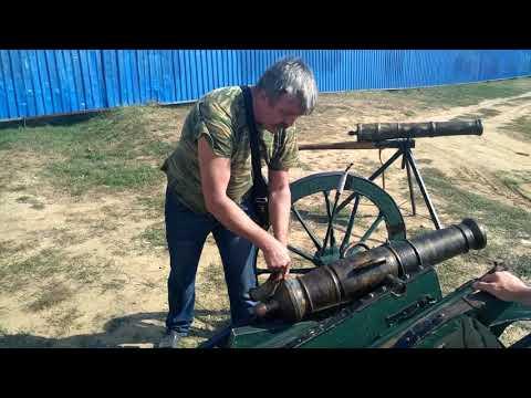 Выстрел из пушки 18 столетия