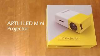 ARTLII LED Mini Projector Review & Unboxing (YG-300)