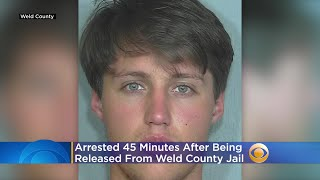 Nathanial Neisler Arrested 45 Minutes After Being Released From Weld County Jail