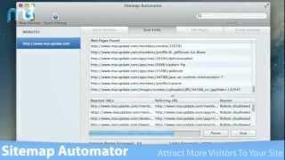 Sitemap Automator Screencast - MacUpdate Promo