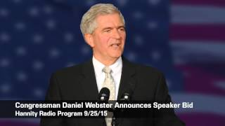 Congressman Daniel Webster Announces Candidate for Speaker