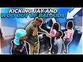 KICKING JAY AND WOO OUT OF BAD KIDS PRANK!