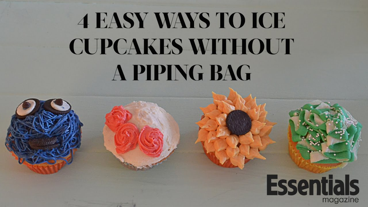 how to ice cupcakes without a piping bag