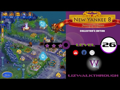 New Yankee 8 - Level 26 Walkthrough (Journey of Odysseus) |