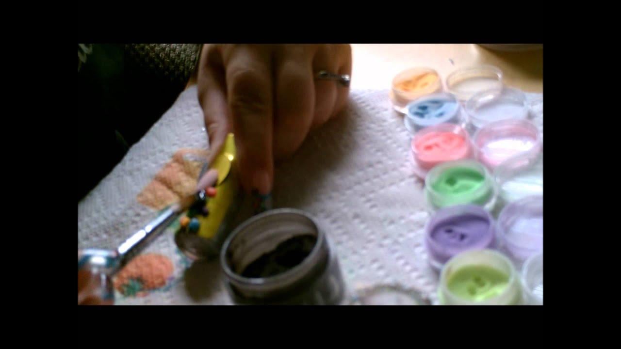 loveXmyXnails Glow in the Dark Spot Acrylic Nail Design tutorial ...