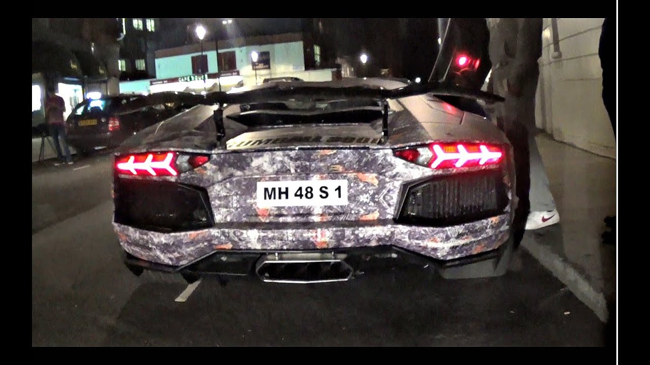 INDIAN Gumball 3000 Lamborghini Aventador in Central ...