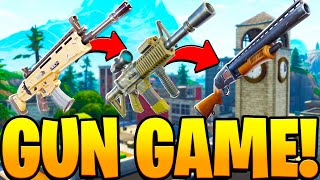 TILTED GUN GAME CUSTOM MODE in Fortnite PLAYGROUND V2 MODE! - Fortnite Battle Royale