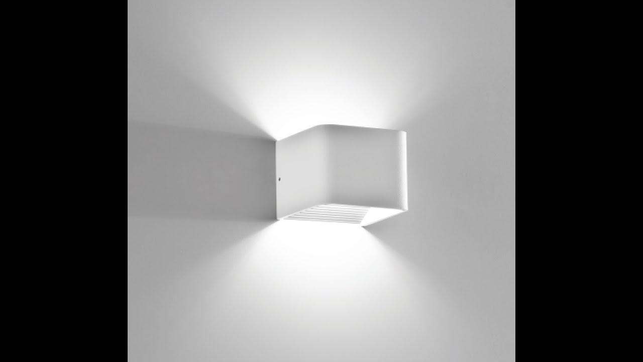 Lampada cubo da parete led youtube