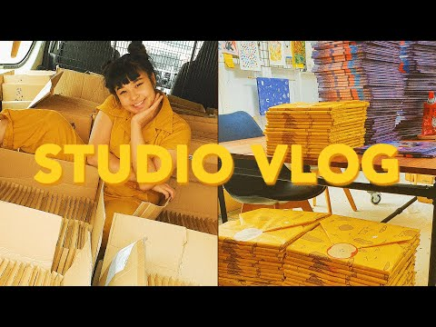 STUDIO VLOG ✷ HUGE STORE PACKING VLOG (OVER 800 ORDERS)