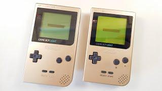 Official GameBoy Light VS Modded Gameboy Pocket!?