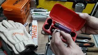 Обзор набора для работы, обслуживания и ремонта бензопилы