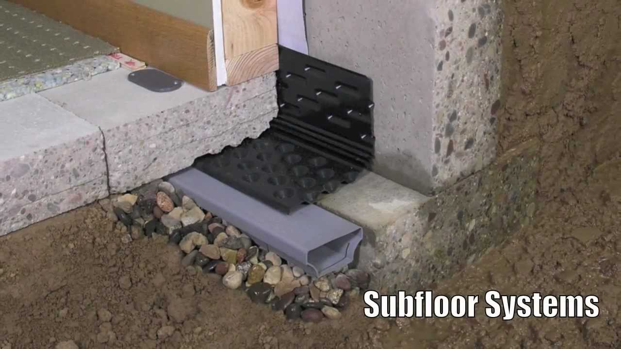 professional supplies basement drain waterproofing watch interior youtube tile
