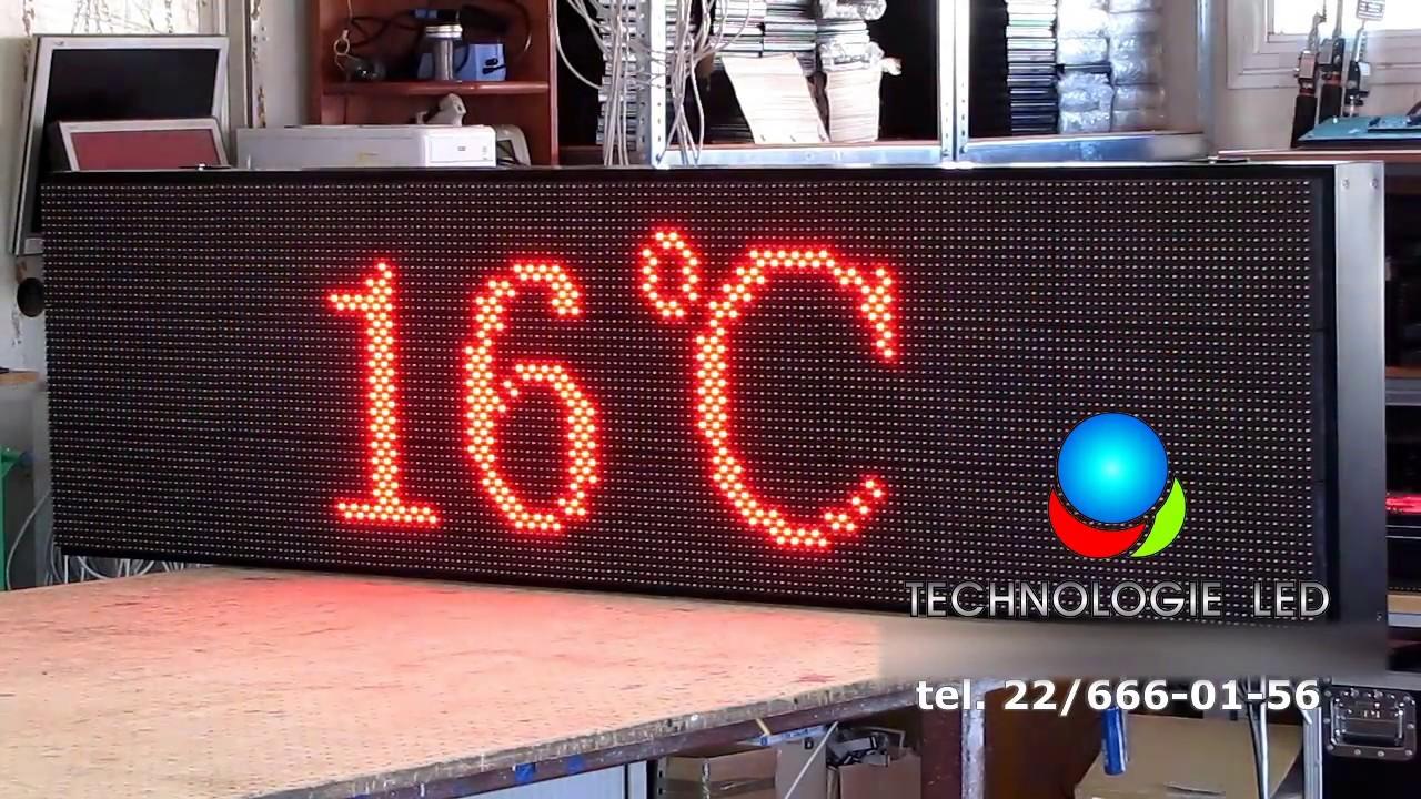Cudowna Tablica LED 7-kolorowa, WYŚWIETLACZ LED, REKLAMA LED 192x48 DK31