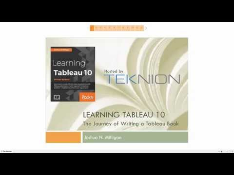 Learning Tableau 10: The Journey of Writing a Tableau Book