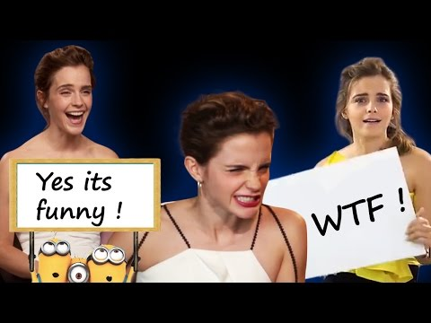 Emma Watson Beauty and the Beast Funny Interview Moments (CUTE!!!)