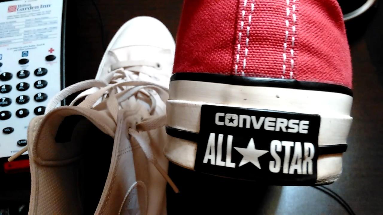 Chuck Taylor II vs 1970 s Chuck Converse All Star - YouTube cb9d30112