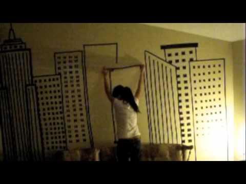New York City Skyline Tape Mural - YouTube