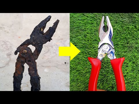 Fully Destroyed [PLIER] Restoration   Extremely Rusted Pliers Tool Restore