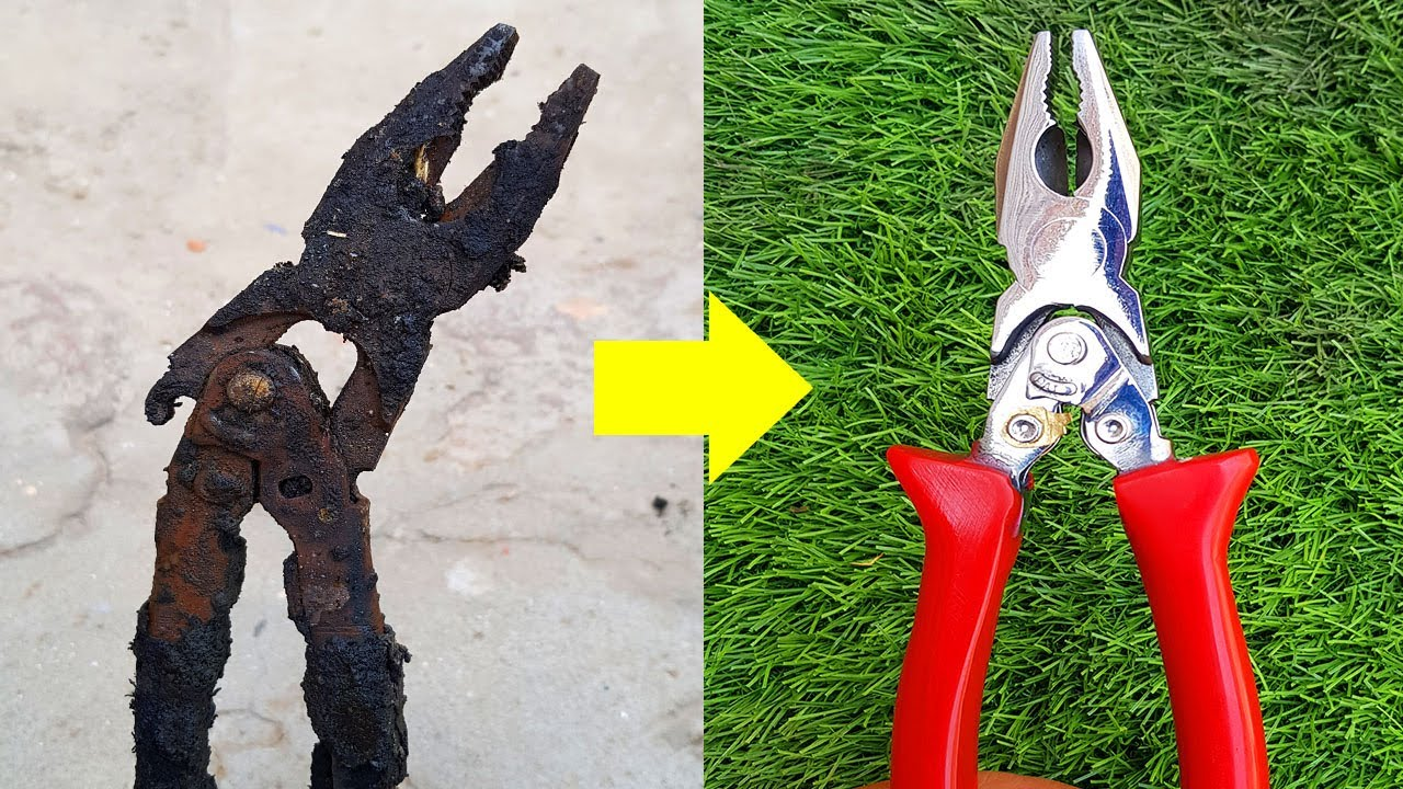 Fully Destroyed [PLIER] Restoration | Extremely Rusted Pliers Tool Restore