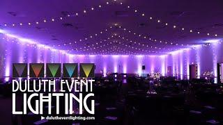 AAD Shrine in blush pink wedding lighting by Duluth Event Lighting