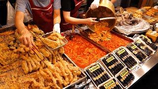 Корейский токбокки! Покупатели выстраиваются в очередь с утра. / korean street food