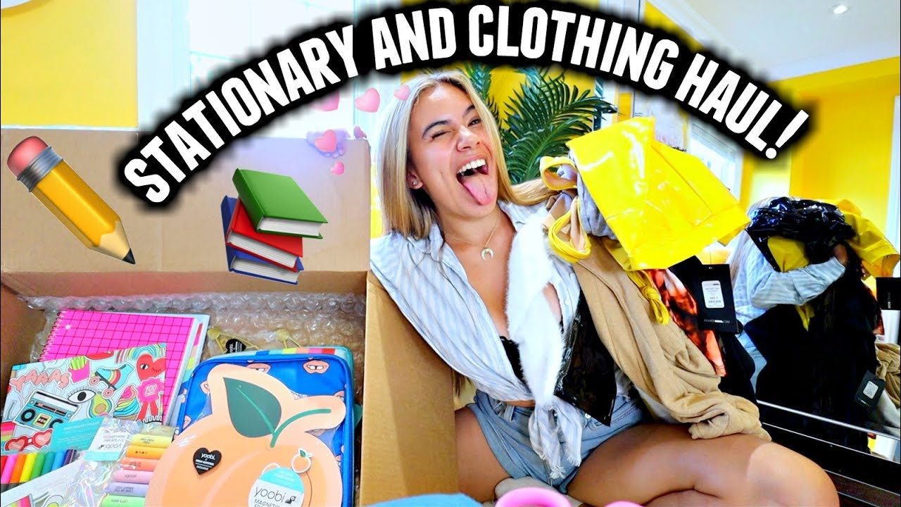 BACK TO SCHOOL SUPPLIES + CLOTHING HAUL! College 2019 1