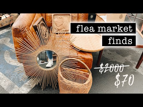 Finding A $2000 Mirror For $70 // FLEA MARKET SHOPPING + HAUL | XO, MaCenna