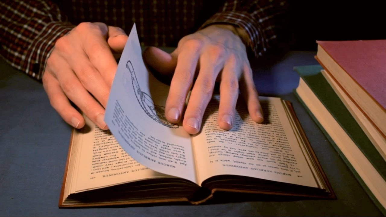 ASMR Old Book Page Turning & Flipping (Binaural)