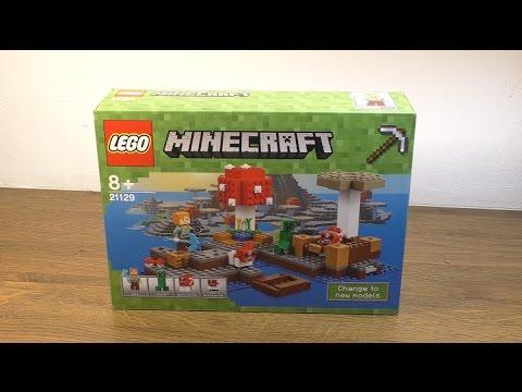 Lego Minecraft 21129 - Mushroom Island   Review Deutsch HD - YouTube