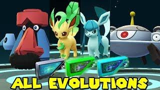 ALL NEW LURE MODULE EVOLUTIONS IN POKEMON GO - LEAFEON,GLACEON,PROBOPASS,MAGNEZONE