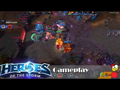 Heroes of the Storm Gameplay with chat